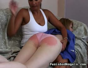 Receptionists redassed reprimand0. Hot secretary gets spank by her female boss